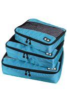 Wholesale Packing Cube travel bag Acid Blue Set Travel Organizers Cube Packing Bag muti functional men shirt travel clothing storage bag