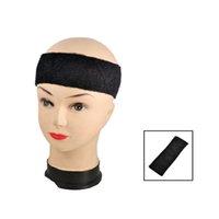 Wholesale Adult Terrycloth Elastic Tennis Runner Head Band Sweatband Headband Black