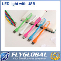 Wholesale Portable USB LED Light Bendable Mini Emergency Bar Light W USB LED Portable Lamp V For Power Bank Laptop Comupter With Retail Packaging