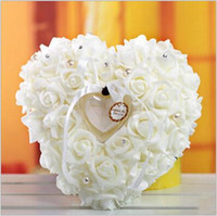 artificial jewelry suppliers - New Rose Flower Ring Boxes for Wedding Decorations Artificial Silk Flower with Peals Hearted Shape Bridal Groom Ring Box Wedding Supplier