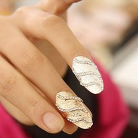 acrylic wedding nails - 2015 Band Rings Sale Band Rings Asian East Indian Ring Factory Direct Selling In Europe And America Fashionable Diamond Nail Wave Pattern