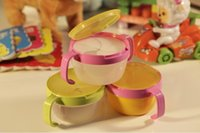 baby snack cup - Baby snack cups double handle snack bowl with lid kid s biscuit cup candy box