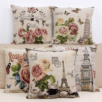 ancient series - cushion cover Pillow case CM European style of the ancient building series of cotton yarn dyed jacquard embroidery pillow