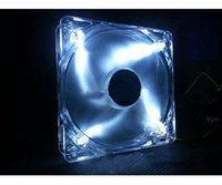 Wholesale New mm pin White LED Case Fan Computer PC Cooling For Sale
