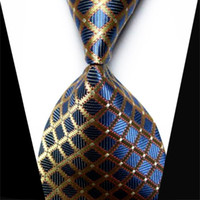 Wholesale Plaid Grain Fancy Men Tie Elegant Fashion Smooth Necktie Smooth Luxury Formal Business Wedding Holiday Party Ties