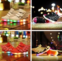 airs rubber usb - 2016 NEW children USB charging sneakers kids LED lwing uminous shoes boys girls of colorful flashing lights size LED shoes