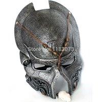 alien mask deluxe - Brand New Alien VS Predator Warrior Deluxe Movie Mask AVPR mask handmade Resin Silver and Golden