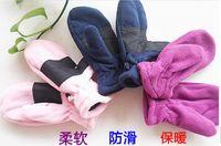 fleece gloves - Gloves are Children s Kids Outdoors Sport Winter Fleece Glove with Leather Pairs
