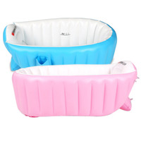 Wholesale Hot Selling Summer Portable Baby Kid Toddler Inflatable Bathtub Newborn Thick Green Bath Tub CM JF0004