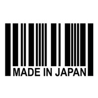 barcode word - Car Stickers Made In Japan Barcode Sticker jdm Reflective Vinyl Decal Sticker Great For Your Car Truck Window Bumper