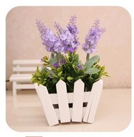romantic home decorations - The true flowers artificial flowers home decoration Lavender gravel decoration flower Desktop elegant and romantic place