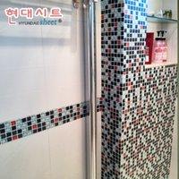 bathroom tile decals - Mosaic tile wall sticker waterproof bathroom tile stickers home decor wall decals vinyl Eco friendly pvc self adhesive wallpaper