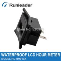 Wholesale RL HM010A Digital LCD Hour Meter V for motocross ATV dirt bike diesel gasoline log splitter cutter Truck