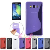 a5000 - For Galaxy A3 A5 A7 S Wave Line TPU Soft Gel Rubber Candy Color Cell Phone Case For Samsung A3000 A5000 A7000