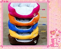 Wholesale HOT Colorful Pet Cat and Dog Bed BrownPink Orange Blue Yellow Warm Soft SIZE M L