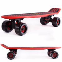 banana board - Upgraded pastel color banana peny board mini cruiser long skateboard four wheel pnny style street longboard wheels skate