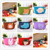 bags felt - 2015 Hot Selling Cartoon Purse Change bag Cute Children s Accessories Wallet Present Wallets Fox Rabbit Animal Bags Small Key Case A2045