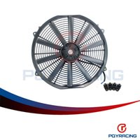 Wholesale PQY STORE Inch Universal V W Slim Reversible Electric Radiator AUTO FAN Push Pull With mounting kit Type I PQY FANI16