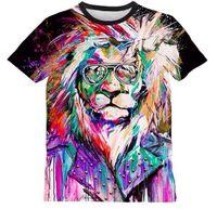 Cheap Man spring 2014 animals oil painting T-shirt blazer men women t shirt shirts tiger force atacado de roupas femininas brand item