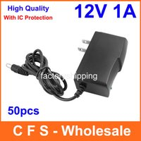 Wholesale 50pcs AC DC V A Power Supply adapter with IC version US EU Plug Adaptor Express High Quality