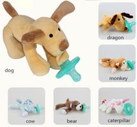 Animal Feed - New Baby Kids Animals Pacifiers Cute Cartoon Plush Toys Silicone Soother Infant Feeding Styles CM
