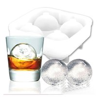 bar top moulding - New practical Bar Drink Whiskey Sphere Big Round Ball Ice Brick silicone Maker Tray Mold Mould top selling