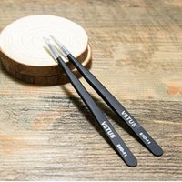 Assembly Tools anti static tweezers - Factory VETUS anti static ESD stainless steel tweezers A slender pointed Precision is good and hard use for dong core E cigarette