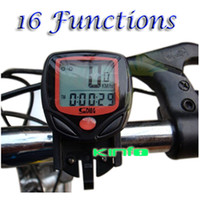 Wholesale 0 DCC01 Digital LCD Bike Cycle Computer Bicycle Speedometer With Temperature order lt no tracking