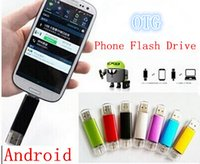 Wholesale OTG Phohe USB Flash Drive For Smart Phones GB GB GB tablet computer random colour external storage micro usb memory stick