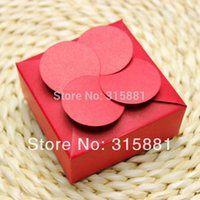 kraft box - Kraft box Red gift box for small package with flower shape on top