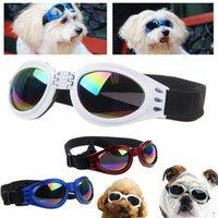 Wholesale Cool Pet Dog UV Foldable Sunglasses Eye Wear Goggle Adjustable Strap Multi Color