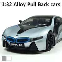 Wholesale I8 supercars alloy model Pull Back Toy car Diecasts toys cars