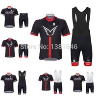 Wholesale felt cycling jersey bicycle cycling tight bike short sleeves bib shorts set cycling tight maillot cycling mtb new