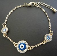 fashion in turkey - Hot woman fashion jewelry Fashion Alloy Bracelet with Fatima evil eyes Turkey Blue eyes in embedded diamond