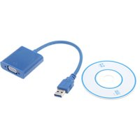 Wholesale 2014 Hot USB to VGA Multi display Adapter Converter Cable External Video Graphic Card V667 EMS