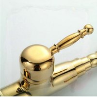 Cheap Golden Polished Kitchen Mixer Tap Basin faucet Ti-PVD finish tap bathroom