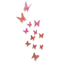 Wholesale 12pcs BAG D Butterfly Wall Stickers Butterflies Docors Art DIY Decorations Paper Fridge Magnets For Home Decoration
