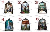 alice backpack - 18style New Inch Cartoon Children Backpack Student School Bags Lovely School Alice in Wonderland Mochila for Teenage Boys Girls