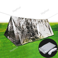 adult folding tent - Folding Outdoor Emergency Survival Camping Shelter Tent Mylar Thermal Reflective Cold Weather Accommodates Adults