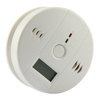 Wholesale Free DHL CO Carbon Monoxide Detector Smoke Home Alarm Safety Gas Fire Poisoning Warning Alarm Sensor Battery Operated Alert LED Display
