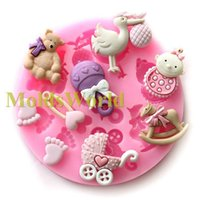 Cheap Sell Mini Baby Doll Theme Food Grade Silicone Mold Chocolate Cake Decorating Heat Safe Mould For Polymer Clay Crafts S65846