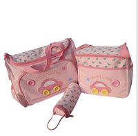 Wholesale 3 colors Waterproof Diaper Mommy Bag car design Stroller Bag Mummy Bag Nappy Bag Messenger bag