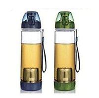 aluminum water bottle - Cycling Water Bottle Mountaineering Travel Water Bottle With Tea Filter Infuser Outdoor Portable Sport Water Bottle with Strip LJJE504 PC