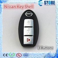 Wholesale 3 Buttons Blank Remote Key Cover for Nissan Teana Murano Sylphy Qashqais Car Key Shell for Replacement PE bag Packaged DHL Free Fast ship A