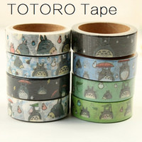 Wholesale 3M Japan Cartoon Totoro cat series paper tape DIY tape Sticky DECO tools office school supplies