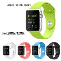 Wholesale 1 Strap For Apple Watch Silicone Strap Soft Rubber Watch band Multicolored Wristband replacement watchband for apple watch mm mm