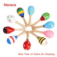 Wholesale High Quality Musical Toy Maraca Wooden Percussion Instrument for KTV Party Kids Children Toy Musical Instrument I574