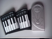 Wholesale 10pcs Keys Flexible Hand Roll Digital Piano It s a Soft Keyboard Piano with Free Power adapter