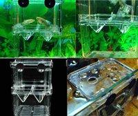 Wholesale 2014 New Fish Breeding Aquarium Accessories Incubator Isolation Box Tank Double Layers Young Fish Box