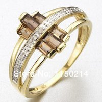 tanzanite rings - R015YBT Hot Sale Jewelry New Size to Fashion Woman s Tanzanite Cz K Yelow Gold Filled Wedding Ring Gift